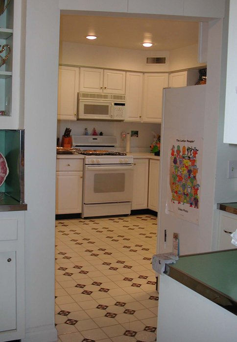 Before the remodeling of this kitchen.