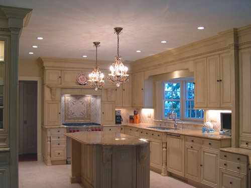integrated appliances, crown molding, base board